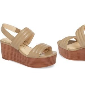 Sole society sunglow gold wedges. Worn twice!